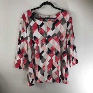 JM geometric print blouse/tunic